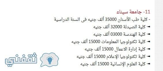 جامعة سيناء الخاصة