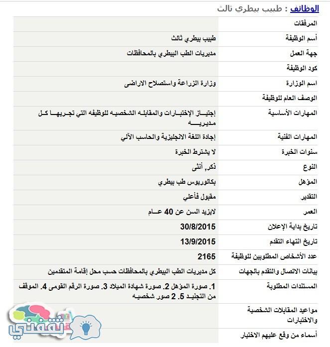 وظائف الحكومية المصرية