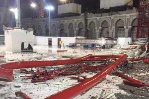 """مهندس في """"مجموعة بن لادن"""" مؤكدا أن سقوط الرافعة في الحرم المكي ليس بسبب خلل فني"""