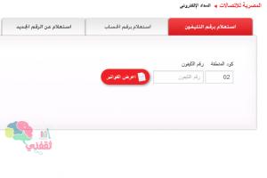 الآن : أعرف قيمة فاتورة التليفون الأرضي من المصرية للاتصالات