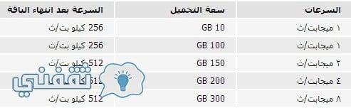 أسعار الإنترنت من تي داتا