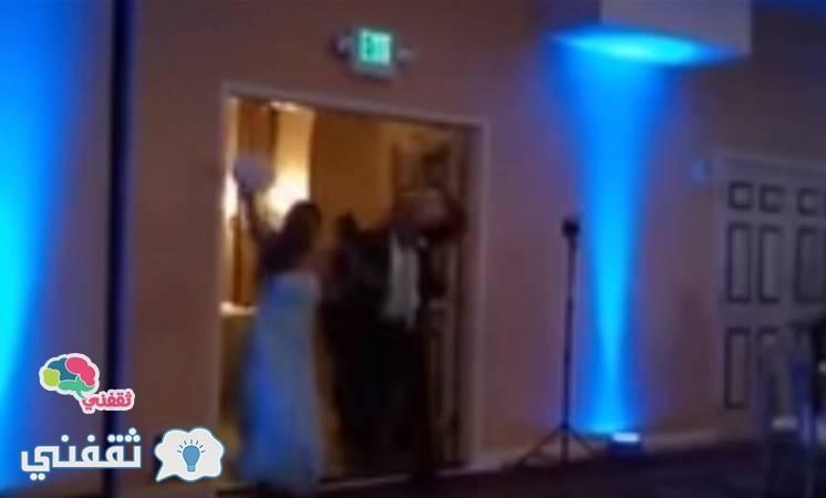 عريس يسقط عروسه فى الزفة
