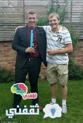 سيمون مع ابنه