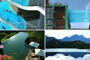 بالصور :تفاصيل اغرب واخطر حمامات فى العالم وهل لديك الجراءة على السباحة بها
