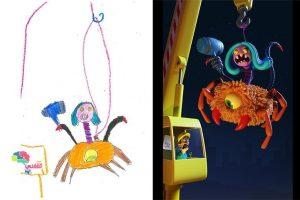 بالصور : رسومات الأطفال تتحول إلي حقيقة عبر مشروع الوحش الجديد