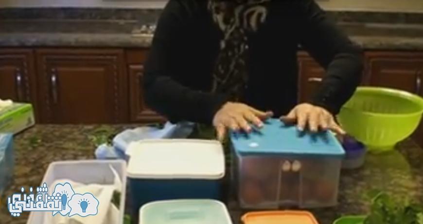بالفيديو   تخزين الخيار والطماطم في الفريزر لأكثر من شهر بطريقة سهلة