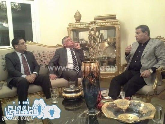 توفيق عكاشة و السفير الاسرائيلى 2