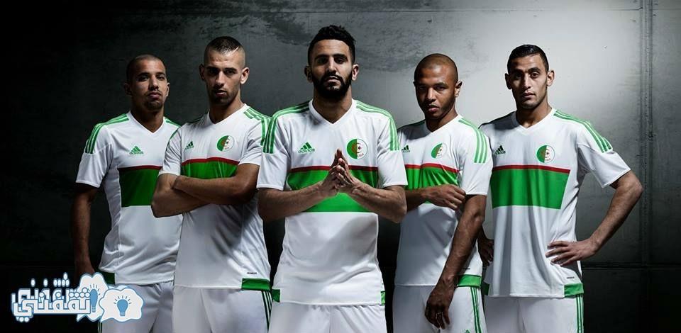 القميص الأبيض الجديد للمنتخب الجزائري
