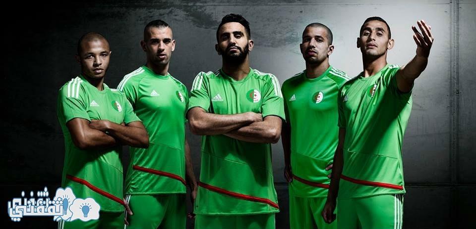 القميص الأخضر الجديد للمنتخب الجزائري