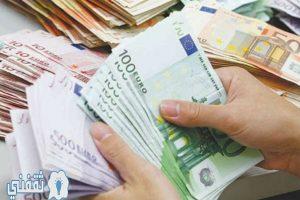 أسعار صرف عملة اليورو (EUR) ليوم الاثنين الموافق 30/5/2016 مقابل العملات