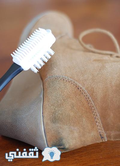 تنظيف أحذية الشمواه