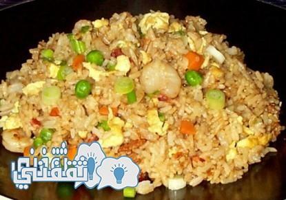 طريقة عمل الأرز بالجمبري والبيض