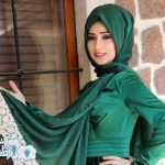 فستان شيك لون أخضر مناسب لسهرة