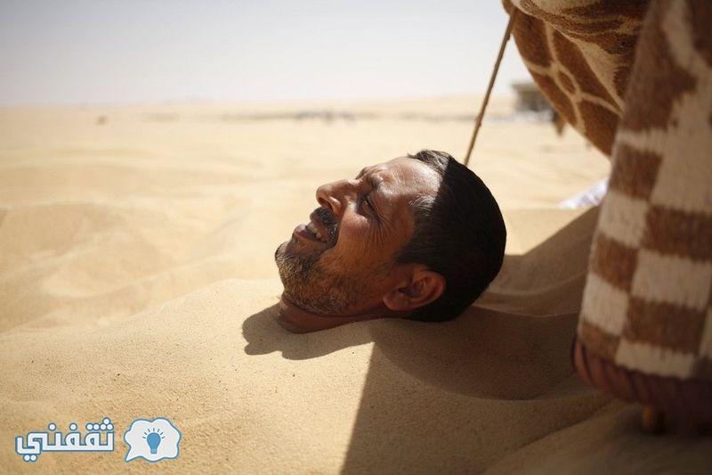 بالصور.. العلاج بالرمال في واحة سيوة (11)