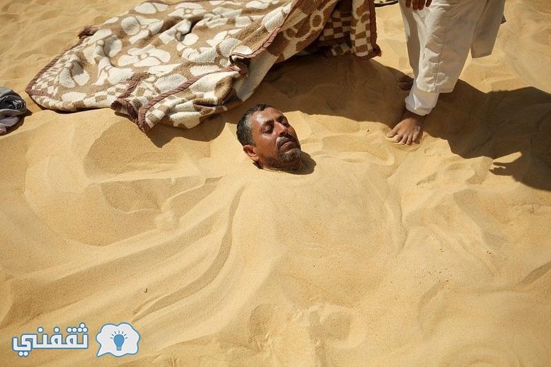 بالصور.. العلاج بالرمال في واحة سيوة (12)