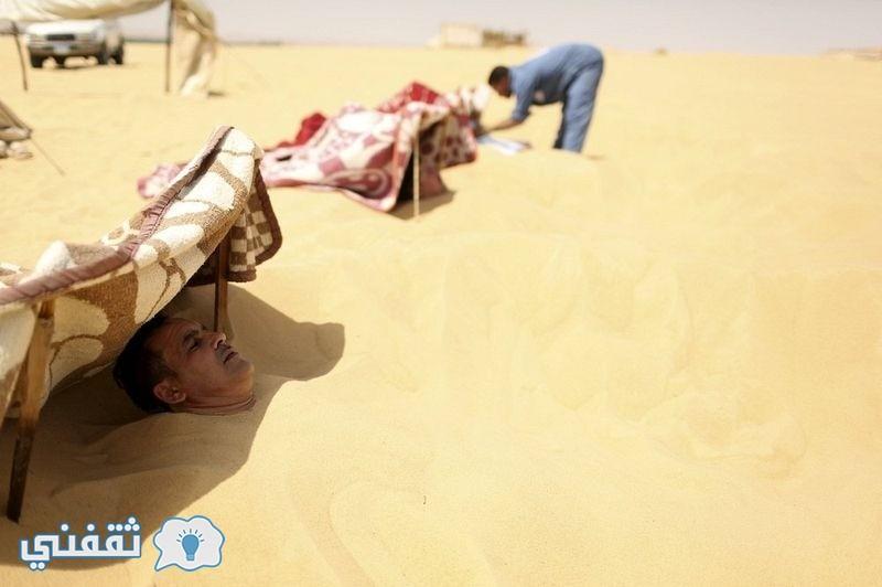 بالصور.. العلاج بالرمال في واحة سيوة (2)