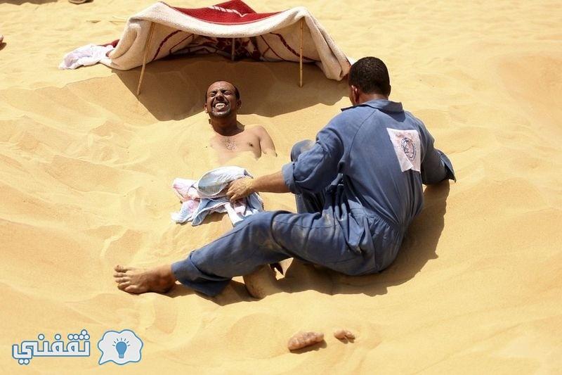 بالصور.. العلاج بالرمال في واحة سيوة (8)