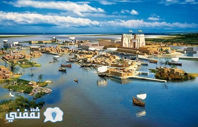 تصور لمدينة كانوب في القرن الثامن قبل الميلاد وقبل تأسيس مدينة الاسكندرية
