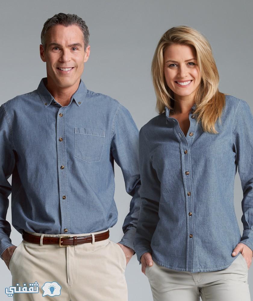 القميص الرجالى والقميص الحريمي