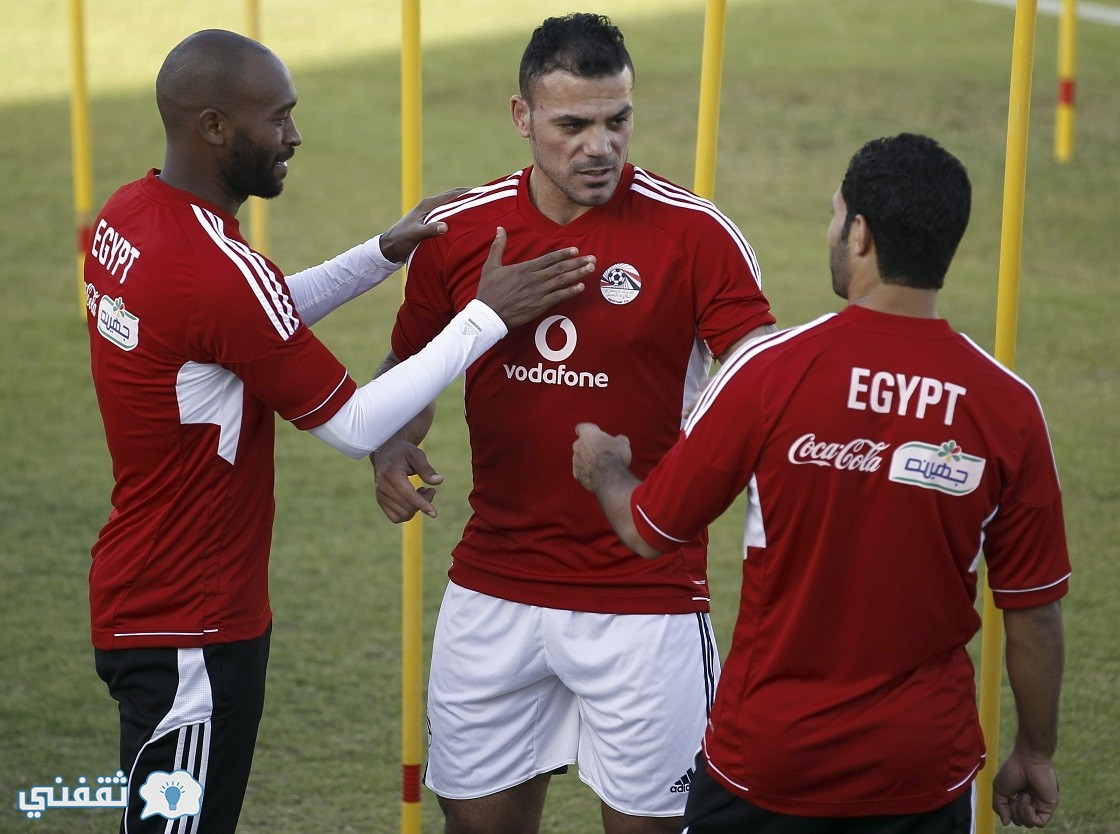"Egypt's players Amr Zaki (C), Mahmoud Shikabala (L) and Hosny Abd Rabo take part in a training session at the Air Defence stadium in Cairo October 9, 2013 during their final training camp ahead of the away leg of their World Cup playoff against Ghana, scheduled to take place on October 15 in Kumassi. Ghana have asked FIFA to move the venue of their World Cup qualifying playoff second leg next month away from Egypt because of ""grave"" safety concerns. REUTERS/Amr Abdallah Dalsh  (EGYPT - Tags: SPORT SOCCER)"