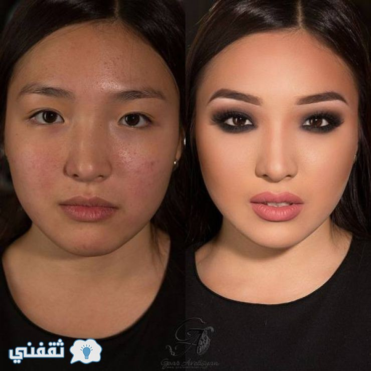 قبل وبعد المكياج26