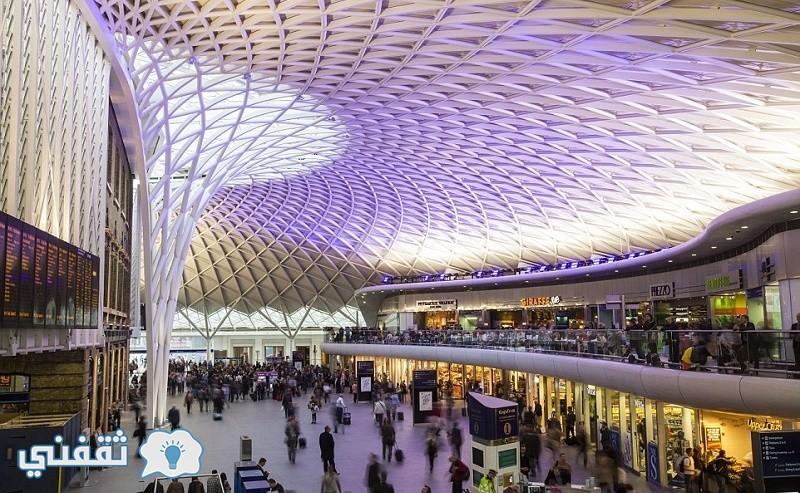 محطة الصليب في لندن تم افتتاحها عام 1852 من تصميم Lewis Cubitt وتم تجديدها في العا