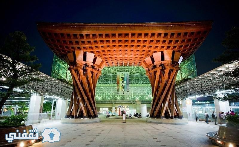 محطة كانازاوا الجديد الغضب بين سكان المدن اليابانية لدى افتتاحه عام 2005