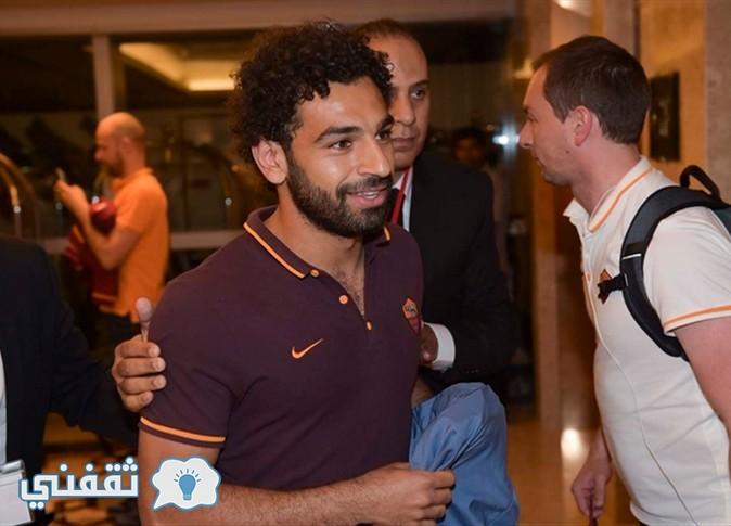 محمد صلاح يصل مطار دبى