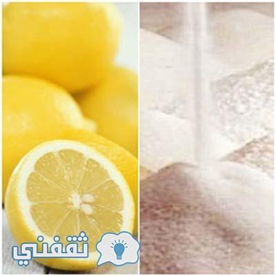 الليمون مع السكر