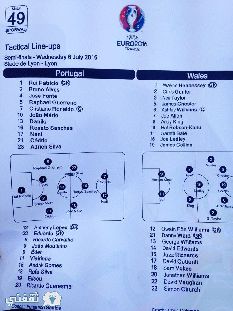 نتيجة مباراة البرتغال وويلز اليوم