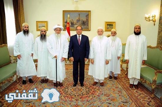 الرئيس-عبد-الفتاح-السيسي-وسلطان-طائفة-البهرة-بالهند-