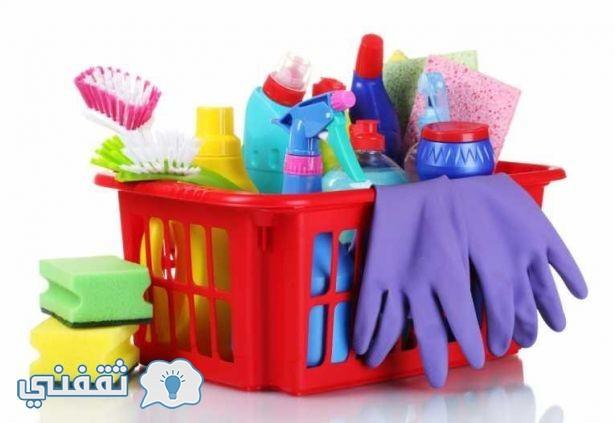 تنظيف أدوات التنظيف
