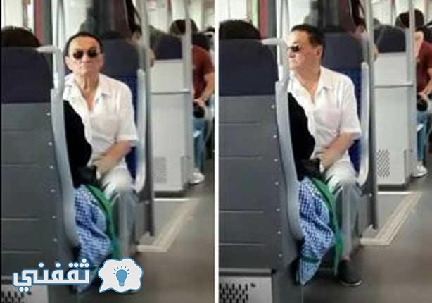 حقيقة ظهور حسني مبارك في مترو الانفاق