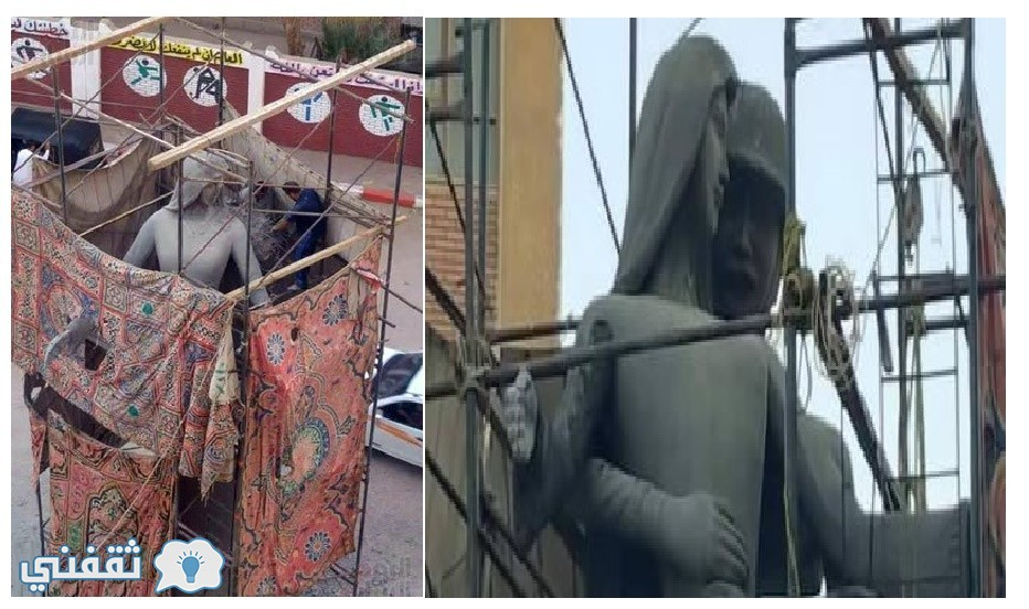 تعديل تمثال أم البطل وازالة الجندي المصري