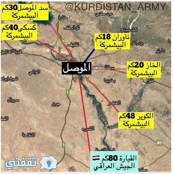 محاور معركة الموصل