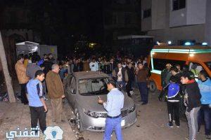 انفجار عبوة ناسفة استهدفت سيارة شرطة بكفر الشيخ