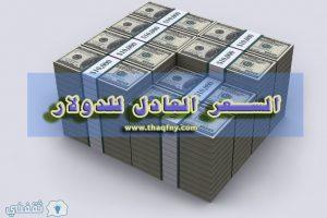 السعر العادل للدولار الأمريكي مقابل الجنية المصري ما هو ومتي يتم تنفيذه ؟