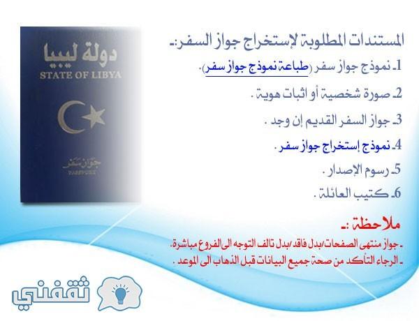 حجز موعد جواز سفر جديد ليبيا