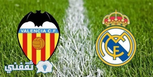 موعد مباراة ريال مدريد وفالنسيا الدوري الاسباني 2017 الأربعاء22/2/2017 والقنوات الناقلة للمباراة
