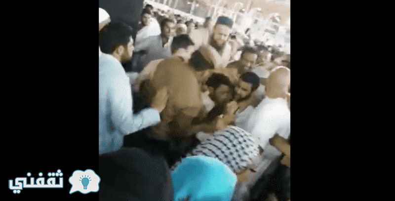"""حرق الكعبة : إحباط محاولة حرق الكعبة من شخص وصفه البعض بـ """"المختل عقلياً"""" والقبض عليه والمطالبة بأعدامه"""
