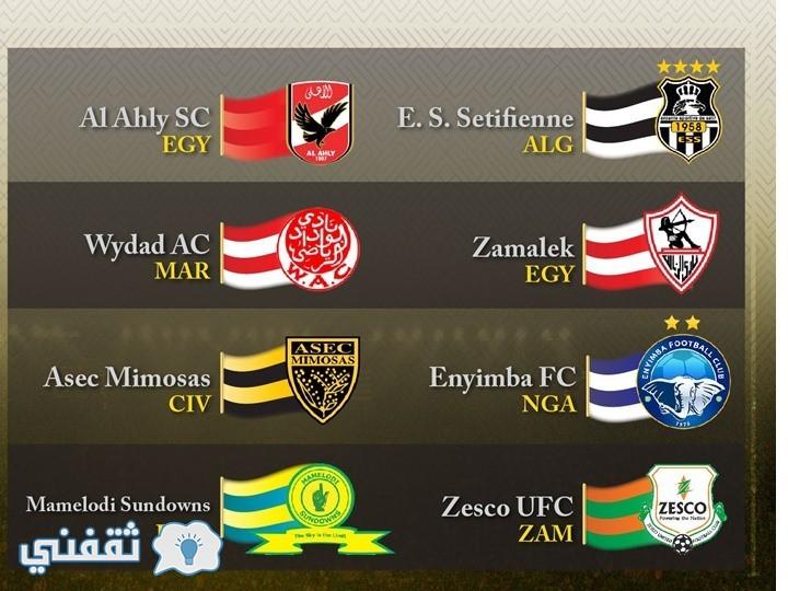 نتيجة قرعة دوري أبطال أفريقيا 2017