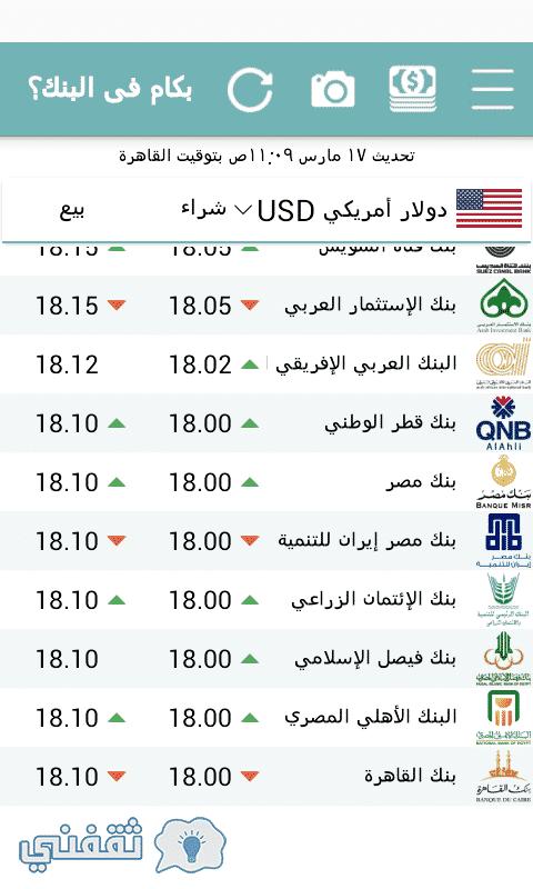 سعر الدولار اليوم في البنوك والسوق السوداء