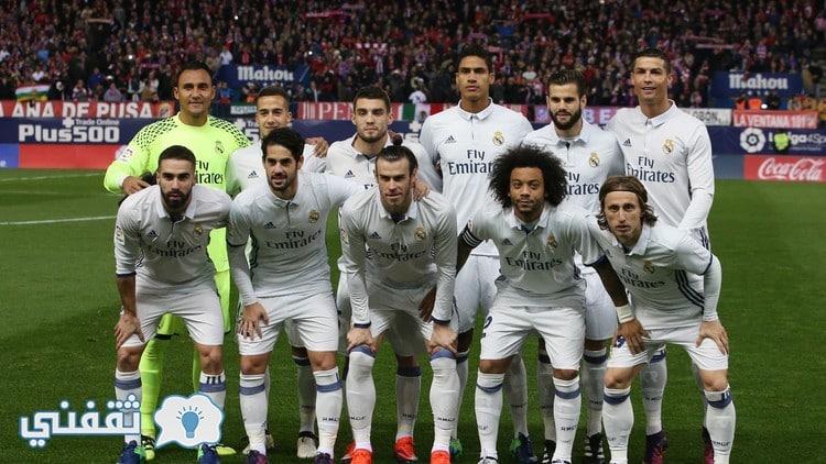 تشكيلة ريال مدريد ضد برشلونة