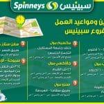 فروع سبينيس مصر Spinneys Egypt عناوين مواعيد العمل فى سبينيس ماركت مصر – ارقام خدمه عملاء سبينيس مصر