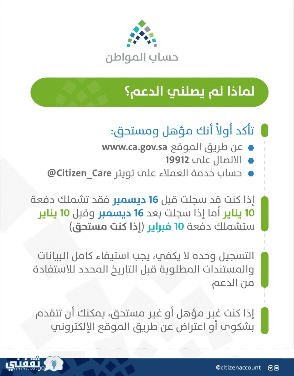 موعد نزول حساب المواطن تويتر