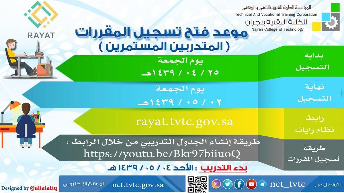 موقع رايات الكلية التقنية rayat.tvtc.gov.sa
