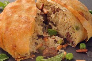 طريقة تحضير صرر أوزي اللحم بالجلاش من وصفات المطبخ السوري