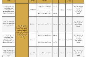 الجدولة الزمنية لخطة الإعلانات الوظيفية 1439 من وزارة الخدمة المدنية في وظائف الجهات الحكومية الغير ممكنة عبر جدارة