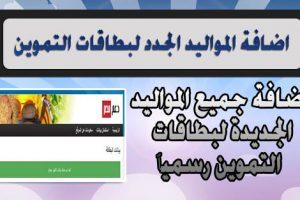 أضافه المواليد الجدد على بطاقه التموين وتحديث البطاقات إلكترونيا من موقع دعم مصر