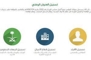 التسجيل في العنوان الوطني السعودي 1439 للأفراد وقطاع الأعمال